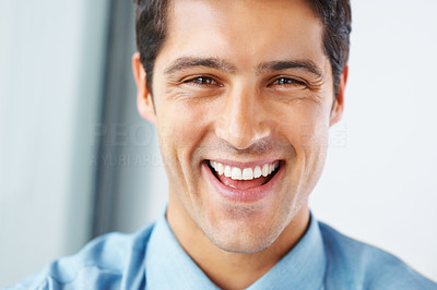 Buy stock photo Closeup of executive smiling