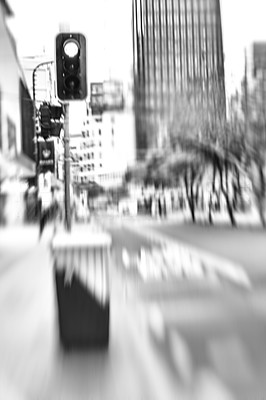 Motion blurred city life