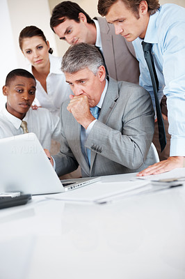 Buy stock photo Business team working together during a meeting at Office