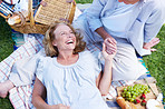 Laughing during a summer's picnic