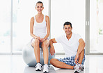 Fitness woman and trainer
