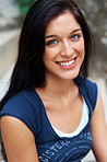 An attractive young woman with a sweet smile