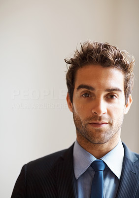 Buy stock photo Closeup of serious executive