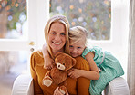 Mommy, teddy and me