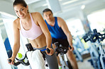 Spinning class gets my heart racing!