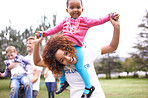 It's a volunteer's job to lift up the kids
