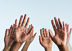 Raise your hands in support of each other
