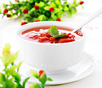 Hot fresh tomato soup