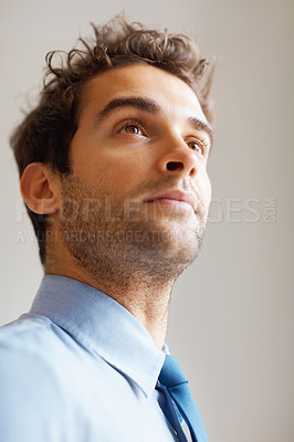 Buy stock photo Closeup of executive looking at something