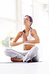 Yoga is bodily gospel - Young woman meditating