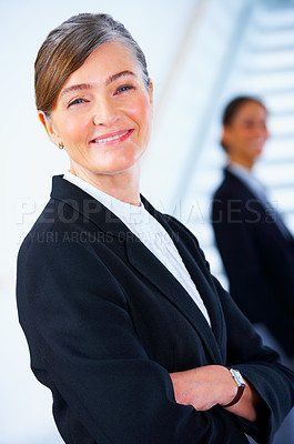 Buy stock photo Senior executive business woman in a light and modern office.