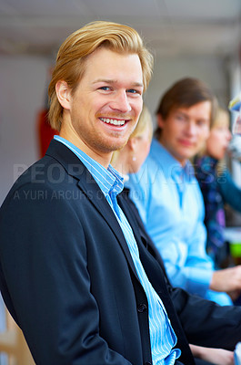 Buy stock photo A young, confident business man. To all the people that have emailed me for more pictures of this modelÖ here he is.