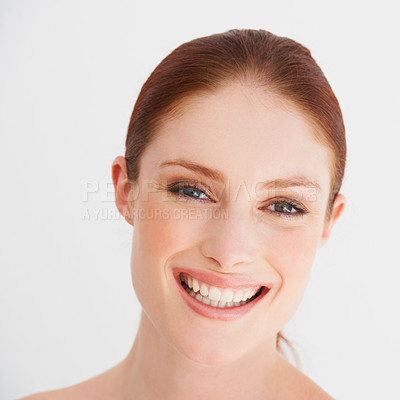 Buy stock photo Portrait of a woman smiling