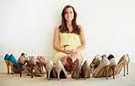 Her shoe collection is impressive