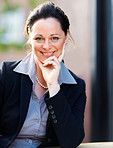 Portrait of a sweet mature business woman smiling