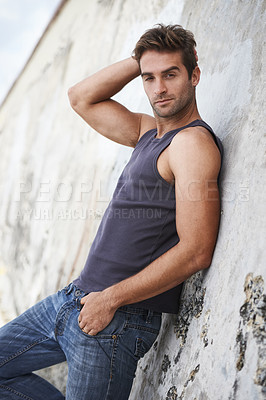Buy stock photo A young man e
