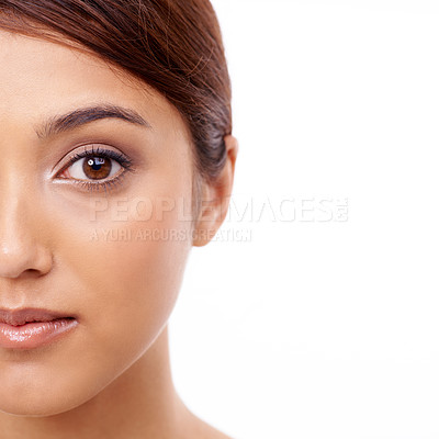 Buy stock photo Cropped portrait of a beautiful young ethic woman