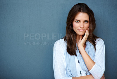 Buy stock photo Portrait of an attractive young lady posing