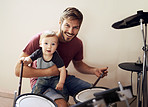Father and son...rocking out together!