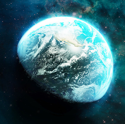 Buy stock photo Shot of planet earth showing the american continents - ALL design on this image is created from scratch by Yuri Arcurs'  team of professionals for this particular photo shoot