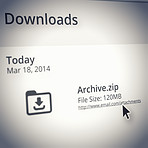 Showing you a history of your downloads