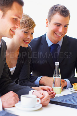 Buy stock photo Cropped shot of a group of corporate businesspeople