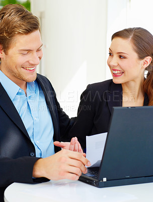 Buy stock photo Workgroup enjoying a laugh