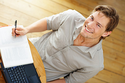 Buy stock photo Young man working