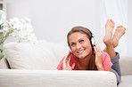 Modern life - teenager listening to music