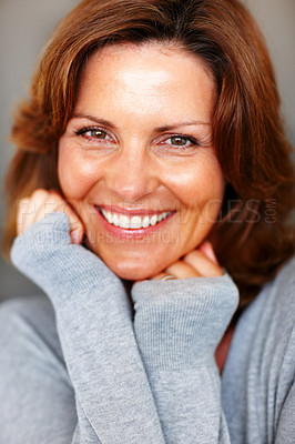 Buy stock photo Portrait of beautiful young lady posing