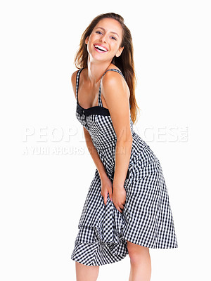 Buy stock photo Woman posing playfully