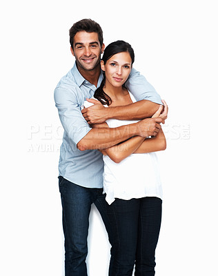 Buy stock photo Loving couple embracing