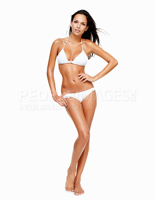Buy stock photo Sexy woman posing in a bikini