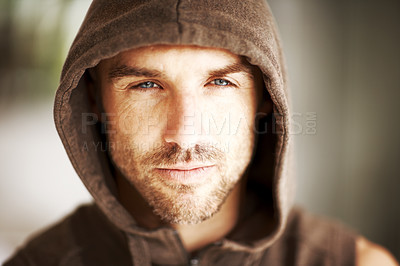 Buy stock photo Portrait of a handsome young man wearing jacket