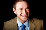Young Laughing Businessman