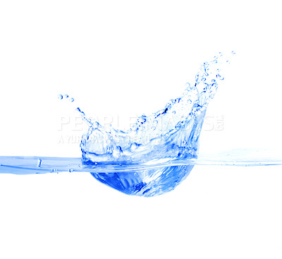 Buy stock photo High resolution image of a water splash.