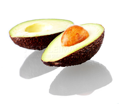 Buy stock photo Isolated fruits - Avocado white background. This picture is part of the series
