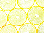 Macro of lemon slices