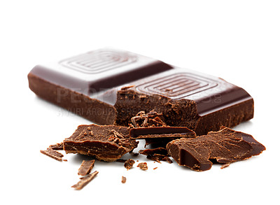 Buy stock photo Delicious close-up of chocolate, cleaned and retouched to perfection