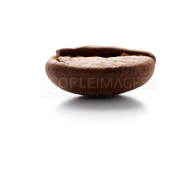 Buy stock photo Isolated macro shot of a coffee bean