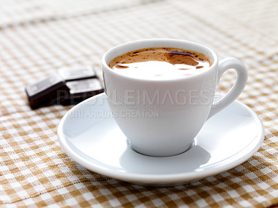 Buy stock photo Close-up of a delicious cup of coffee