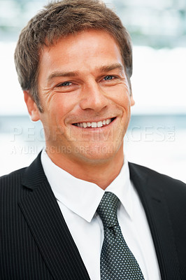 Buy stock photo Portrait of executive smiling indoors
