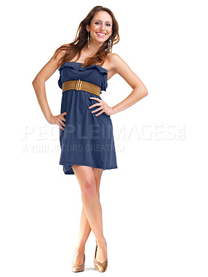 Buy stock photo Portrait of an elegant young woman posing confidently