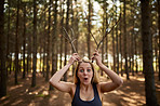 Getting silly in the woods