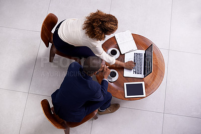 Buy stock photo Shot of businesspeople in a corporate office