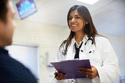 Buy stock photo Shot of a male patient in the hospital