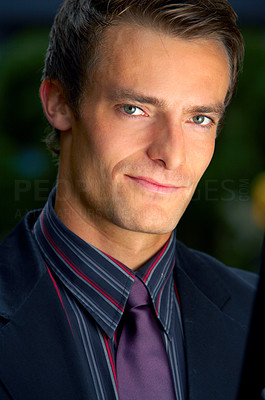 Buy stock photo Portrait of a handsome casual businessman