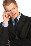 Businessman making a phone call.
