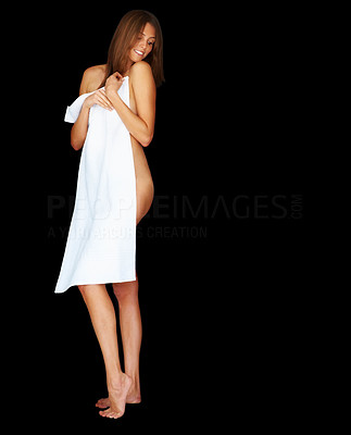 Buy stock photo Sexy young naked female model posing