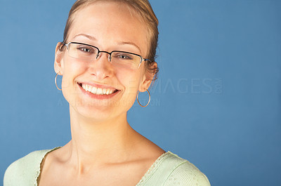 Buy stock photo Beautiful Girl Looking Happy